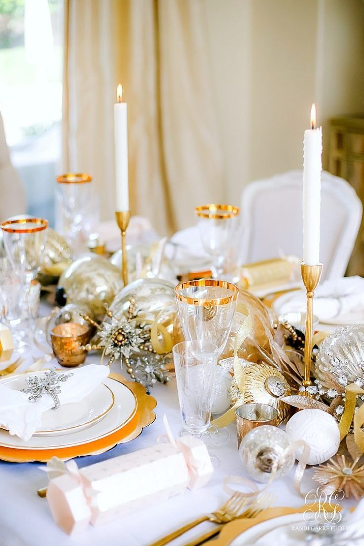 3 Tips To Set A Magical Silver And Gold Christmas Table Christmas Table Gold Christmas Christmas Table Settings