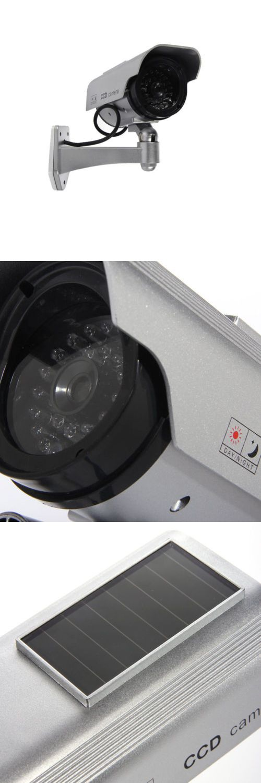 Dummy Cameras: 8X Dummy Fake Flashing Light Ir Led Solar Security Camera Home Cctv Surveillance BUY IT NOW ONLY: $72.99