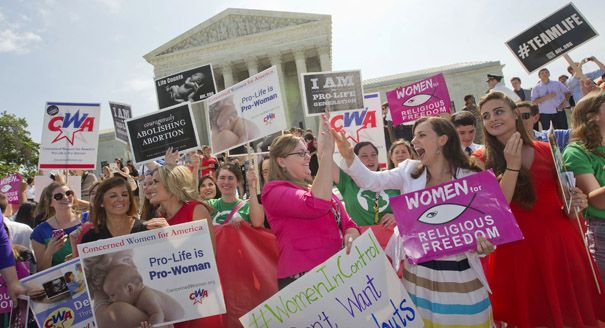 The Supreme Court ruled 5-4 in Burwell v. Hobby Lobby that employers with religious objections can opt out of providing contraception coverage under Obamacare.