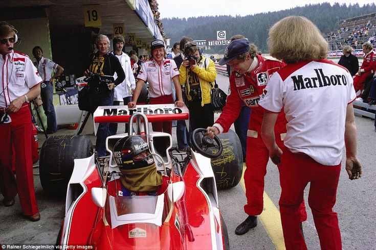 You may need this, James! One year on and Lauda is back at theOsterreichring as he shares a joke with world champion and title rival from 1976, James Hunt by handing him his steering wheel. On another matter, I can't see today's McLaren outfit allowing their tyres to look like they have been scribbled on by a toddler