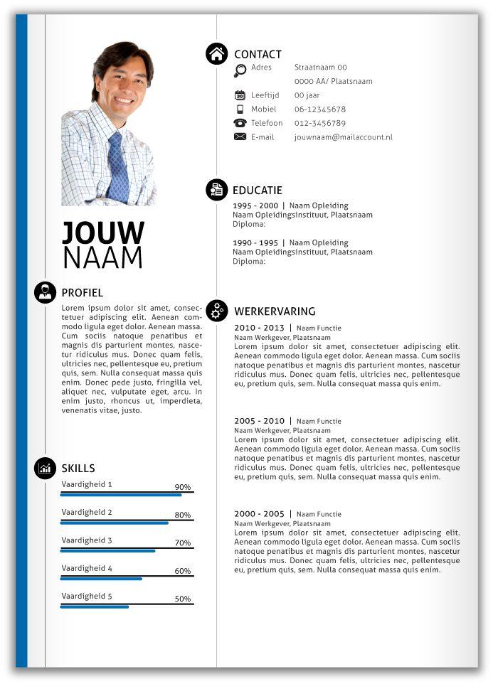 CV design 359. Volledig in Microsoft Word voor elke functie zelf aan te passen.
