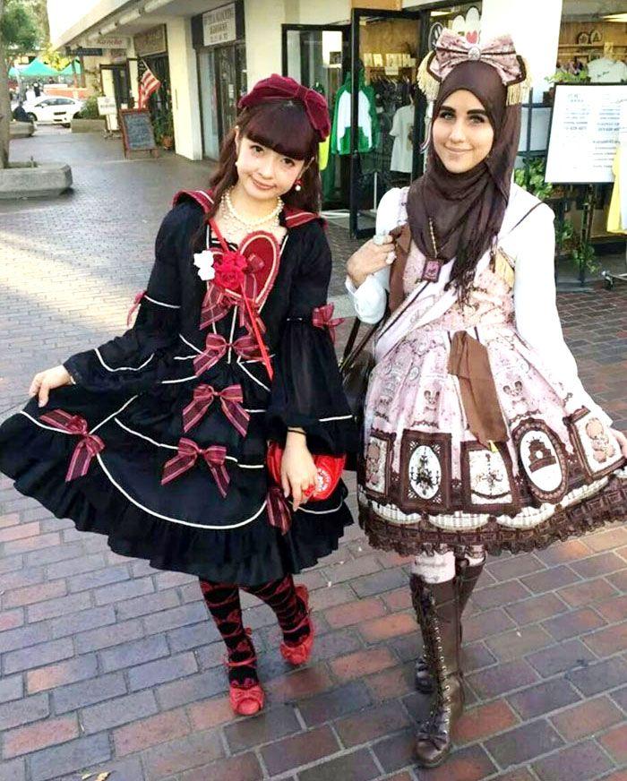 Beautiful Muslim Women Inspired By Japanese Fashion