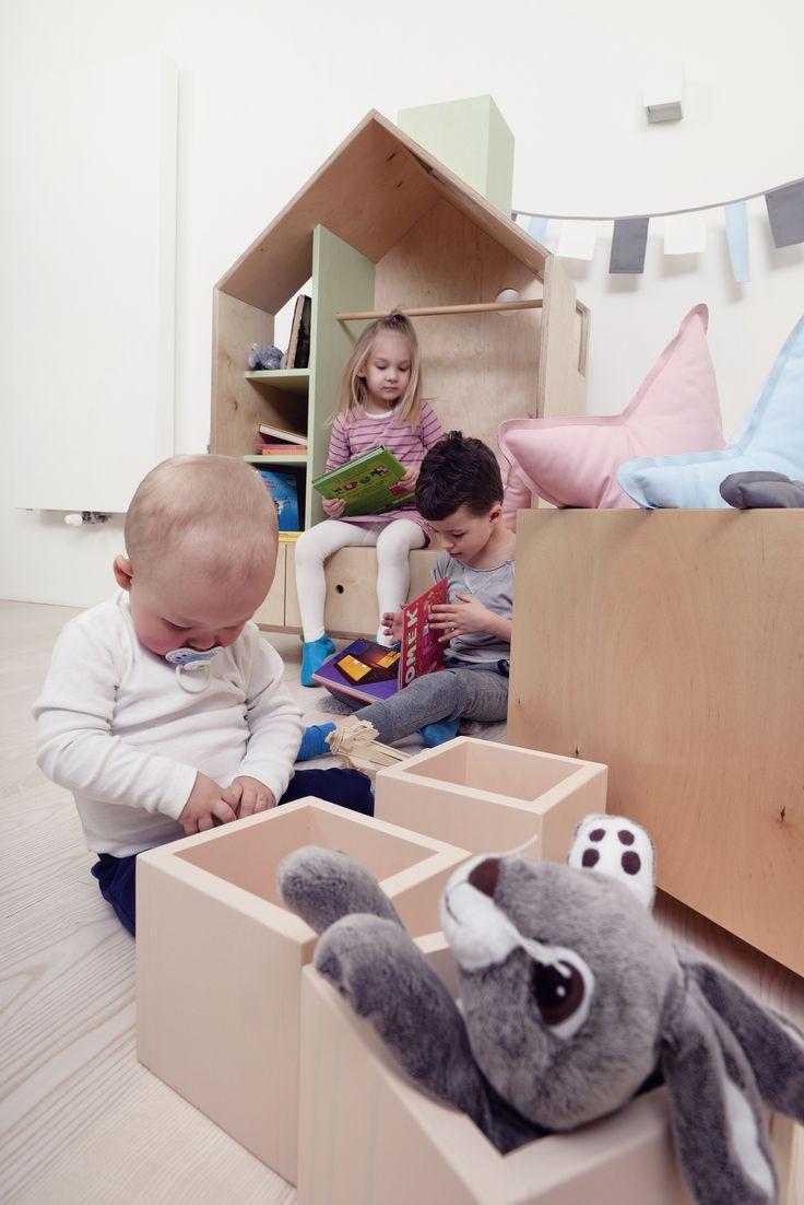 Our furniture are create to play!/ Nasze meble stworzone są do zabawy! Meble dla dzieci meble dziecięce szafa 'DOMEK' pudło na zabawki pokój dziecięcy inspiracje