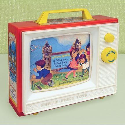 nostalgic toys | Nostalgic Toys | Old Fisher Price TV toy