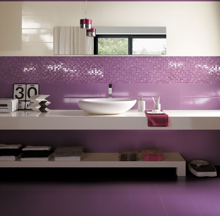 Bathroom design; Vanity ceramic tiles by Cerim