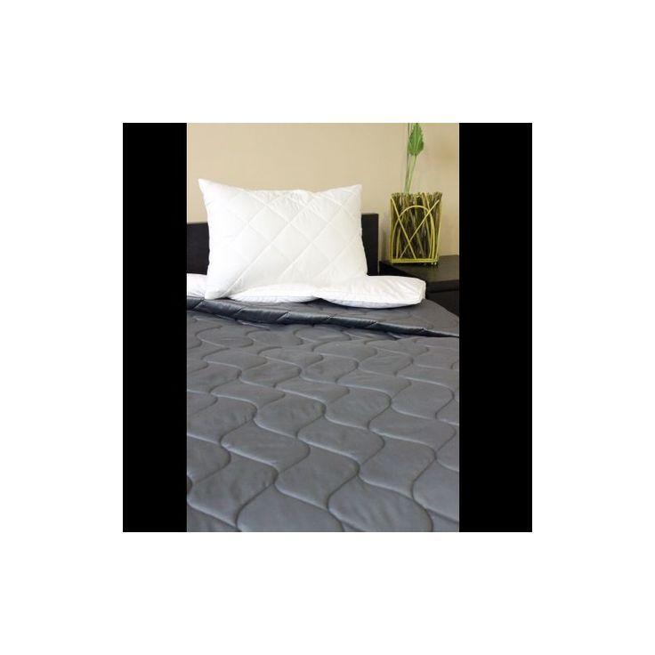 PE-Szatén matt szürke ágytakaró 235x250 cm, Díszpárna.com Webáruház