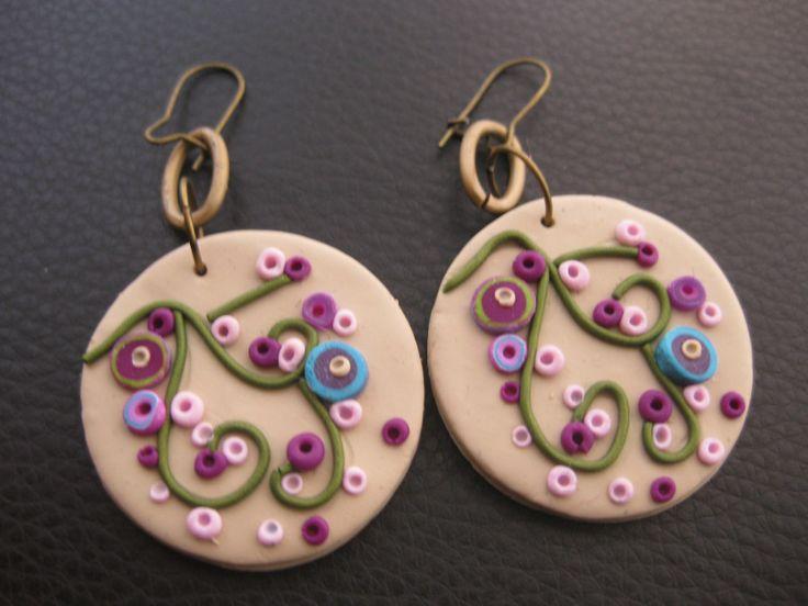 earrings  polymer clay