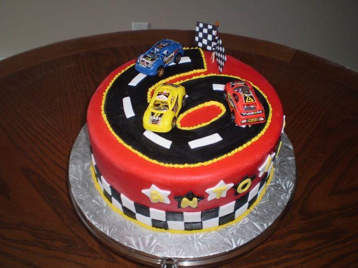 Race Car Cake - gâteau piste de course