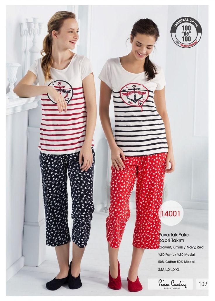 Pierre Cardin Bayan Kapri Takım; Kısa kollu ve yuvarlak yaka T-shirt' ün önü çapa baskılı olup pamuklu kumaştan üretilmiştir. Bayan kapri takımın altı lacivert ve kırmızı renk pamuklu kumaştan üretilmiştir. Materyal: Üst ve Alt;%50 Pamuk, %50 Modal iç giyim, iç çamaşır, fantazi giyim, seksi giyim, çamaşır, gecelik, sütyen, jartiyer, büstiyer, korse, pijama, tayt, hamile, lohusa, loğusa, tanga, külot, string, iç giyim http://camasirkazani.com
