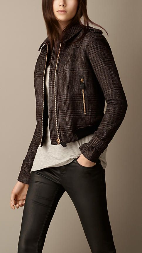 Prince of Wales Check Wool Jacket   Burberry