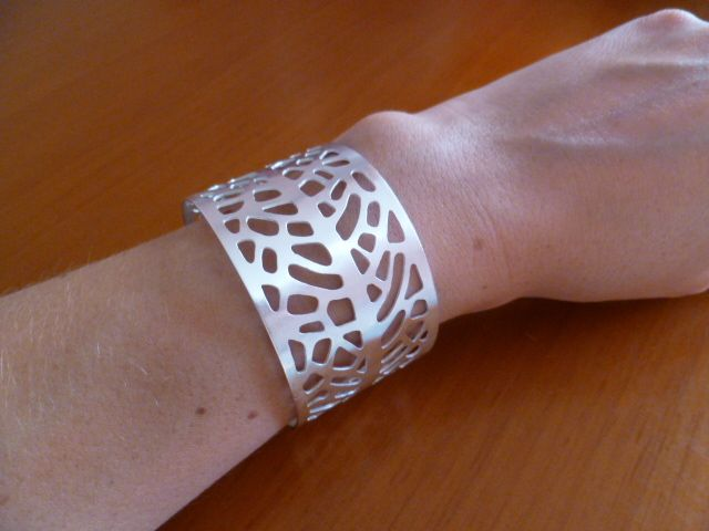 Bracelet isnpired by Gorgonia Coral, hand-made, silver-plating