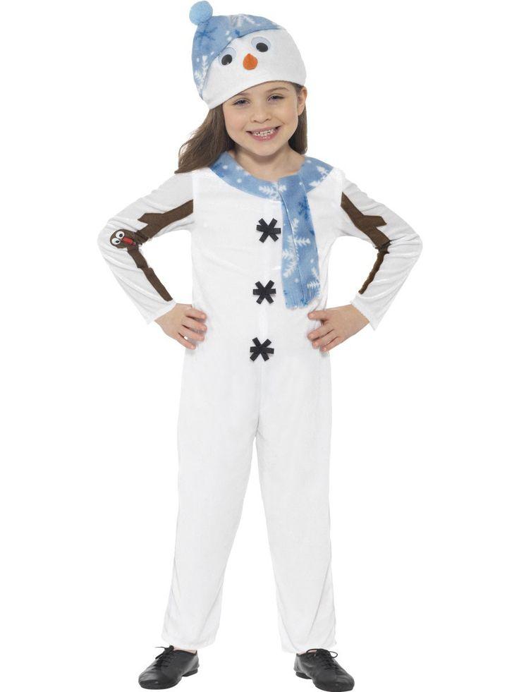 Disfraz traje muñeco de nieve niño navidad