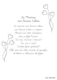 Poesia - le Mamme non hanno Colore