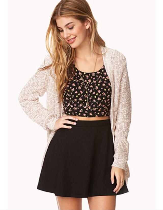 Classic skater skirt - forever 21 | Laurenu0026#39;s crap | Pinterest | Skirts Classic and Skater skirt ...
