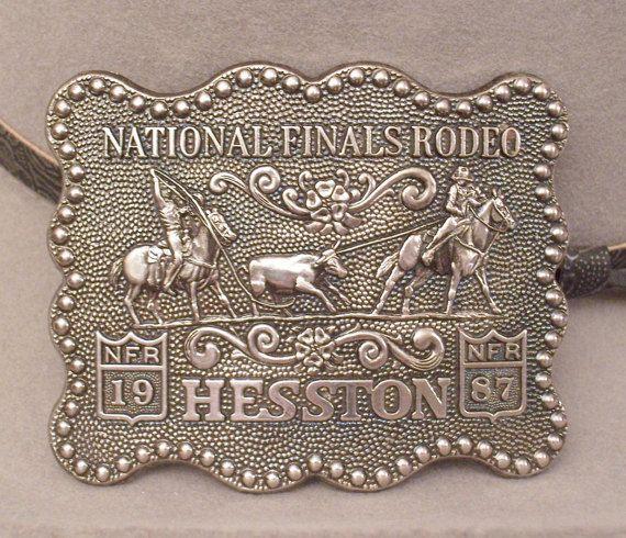 Cowboy Belt Buckle  Hesston Team Roping Belt Buckle by findergirls