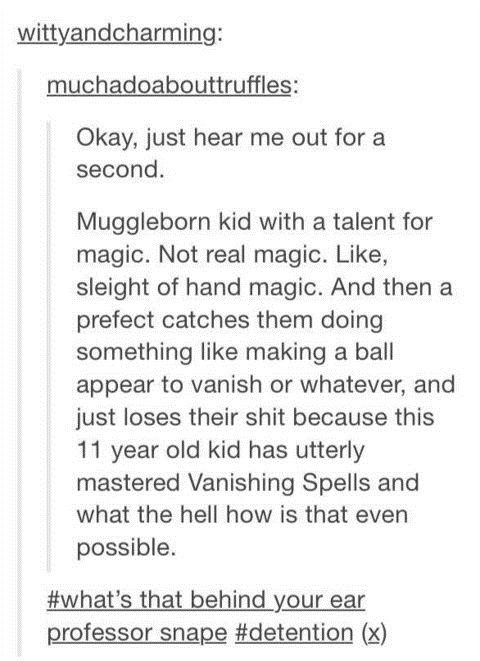 Muggleborn kid with a talent for magic