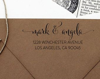 Custom Address Stamp - Flowing Pen Self Inking Return Address Stamp @kieleg I like this for back of invites... not necessarily a stamp, but names fancy and address