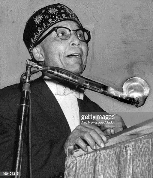 News Photo : Photograph of Elijah Muhammad, the leader of the...