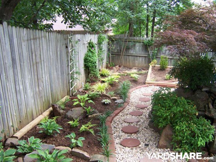 Backyard Landscape Along Fence