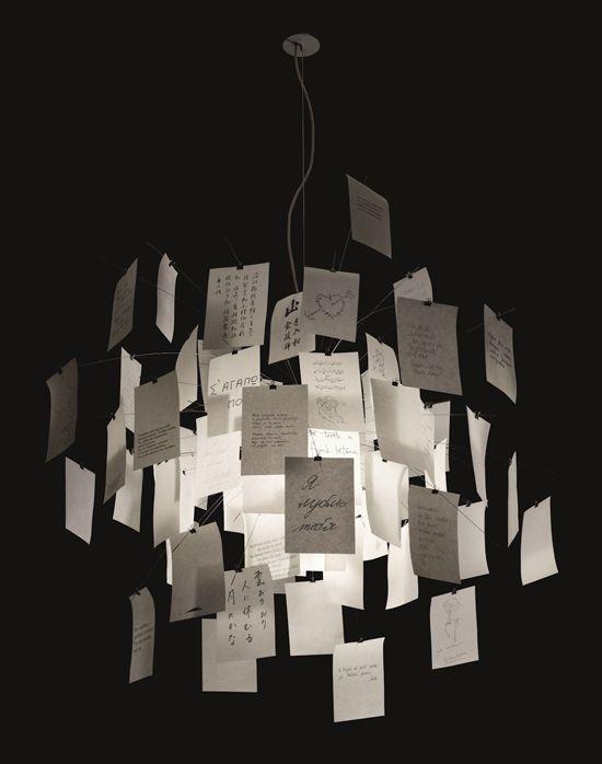ingo maurer paper note chandelier architecture and interiors pinterest paper note paper. Black Bedroom Furniture Sets. Home Design Ideas