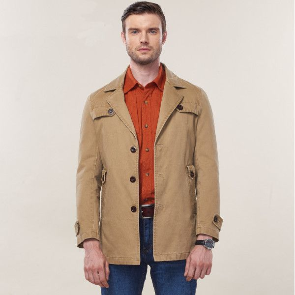 Autumn Winter Mens Casual Business Suit Coat Fashion Style Cotton Long Jacket at…