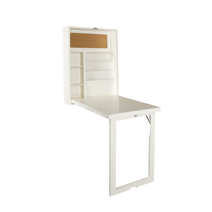 Convertible Fold Out Desk From Brookstone I Wonder If We Could Adapt It To Fit On The Kitchen Door Convertible Desk White Desks Fold Down Table