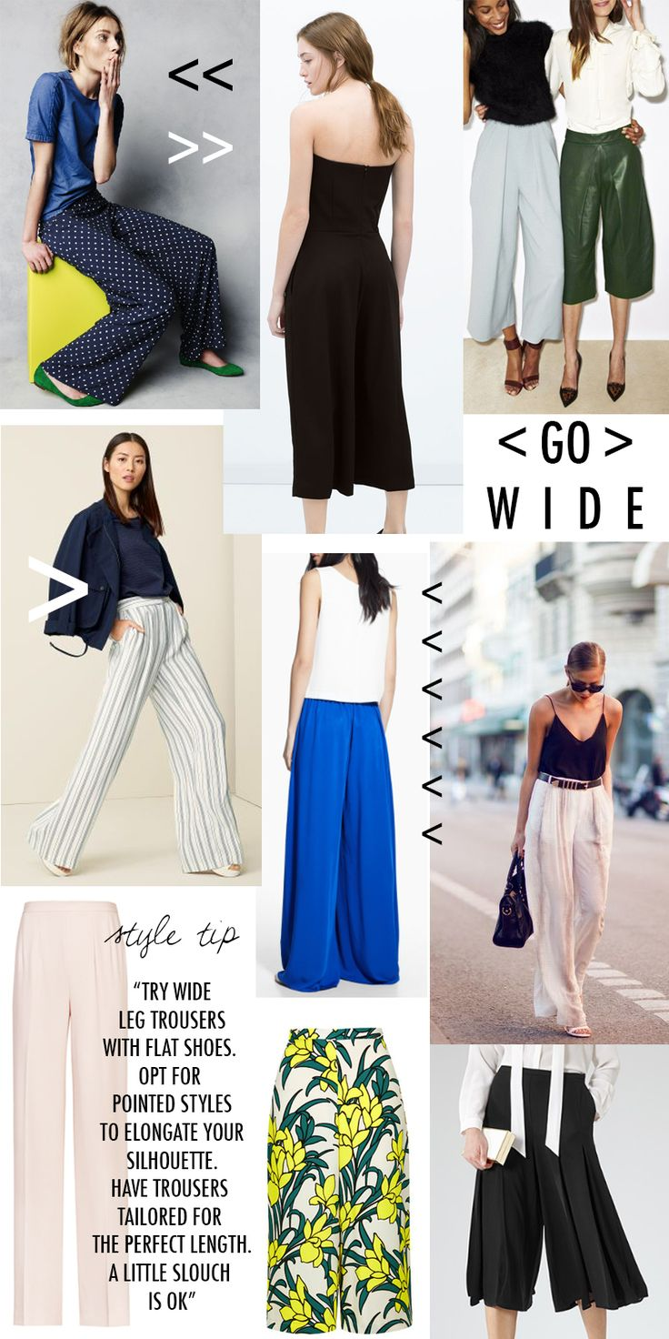 I love the breezy style of wide leg pants.  How To Wear Wide Leg Trousers + Culottes | Style Guide | The Elgin Avenue