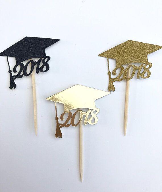 Abschluss-Kuchendeckel, Absolvent 2018, Abschlussdekor, Glückwunschabsolvent, Abschluss 2018