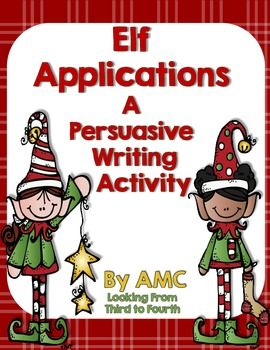 A fun and engaging writing activity perfect for December. Students select an elf job and write a persuasive letter outlining how they meet the qualifications. Elf craftivity template too.