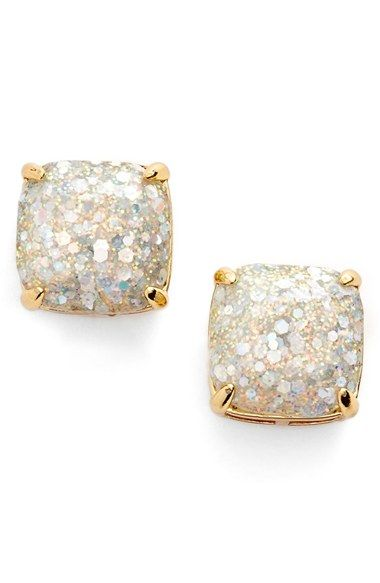 Free shipping and returns on kate spade new york glitter stud earrings at Nordstrom.com. Sparkly glitter shines through the clear stones of these girly, party-perfect stud earrings.  http://CelebNewsPlus.com
