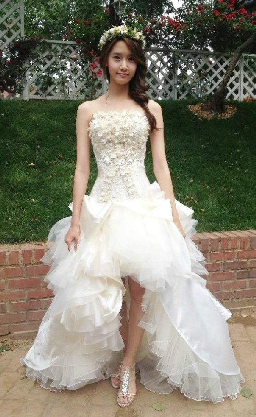 South Korea's Kpop star and actress, Yoona wearing a Wedding Dress - Photos - Soshified