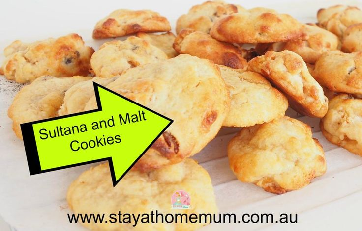 Malt and Sultana Cookies | Stay at Home Mum