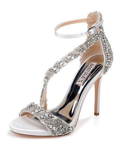 5fb92962bf X4EM0 Badgley Mischka Venice Embellished Ankle-Wrap Sandals | Bridal ...
