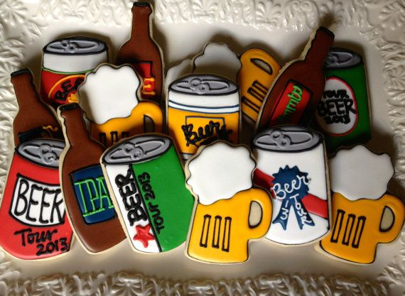 Hey, I found this really awesome Etsy listing at https://www.etsy.com/listing/154350024/lets-drink-beer-sugar-cookie-collection