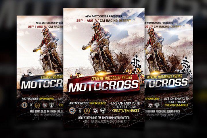 Motocross Flyer 972464 Flyers Design Bundles Flyer Flyer Design Templates Flyer Design