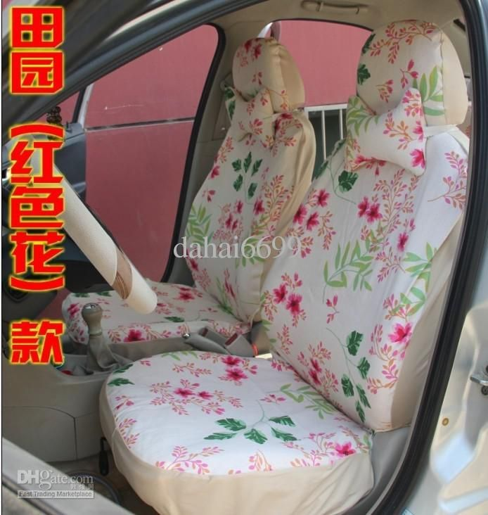 Flowery Cheap Car Seat Covers