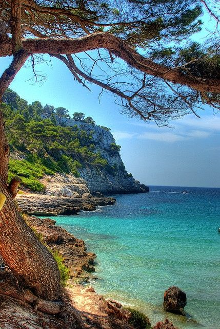 Cala Trebalúger Menorca Spain.