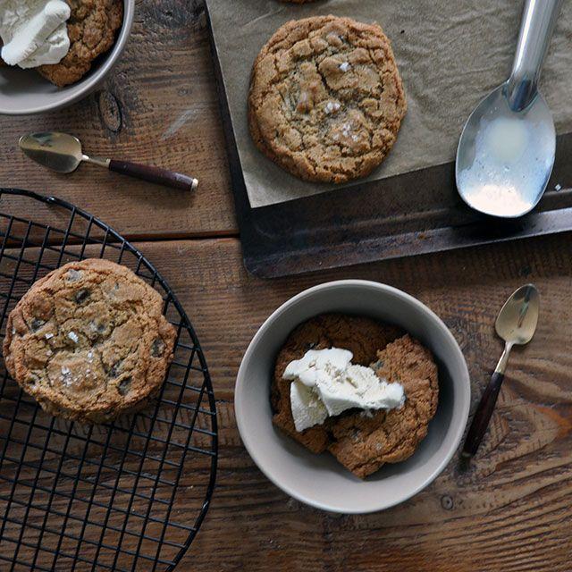 Buckwheat and Sea Salt Cookie Sundaes