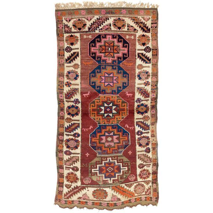 1stdibs Wool Antique Kurdish Tribal Iraqi Turkish Rug In