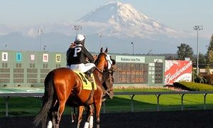 Groupon - Emerald Downs: Horse-Racing Package with Program and Food and Beverage Voucher (Through September 17) in Emerald Downs. Groupon deal price: $10