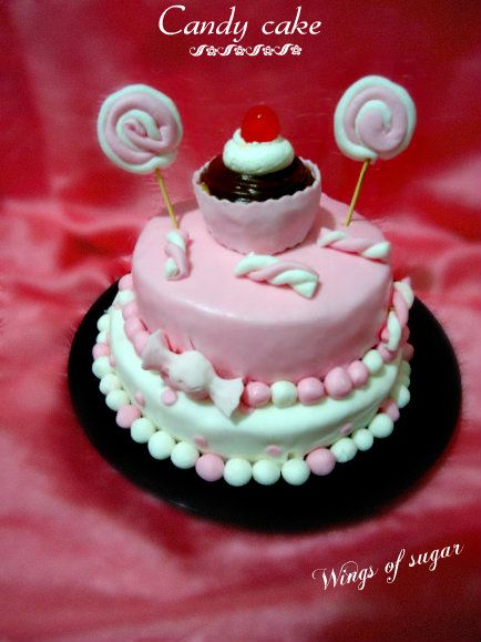 Candy cake, ricetta torta a due piani