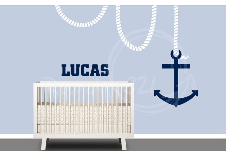 Nautical+Anchor+Wall+Decal++Customizable+Wall+Decal++by+Round321,+$75.00