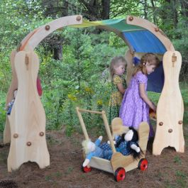 Wooden Playstands. Classic Waldorf toys from Bella Luna Toys. Made in Maine, USA.