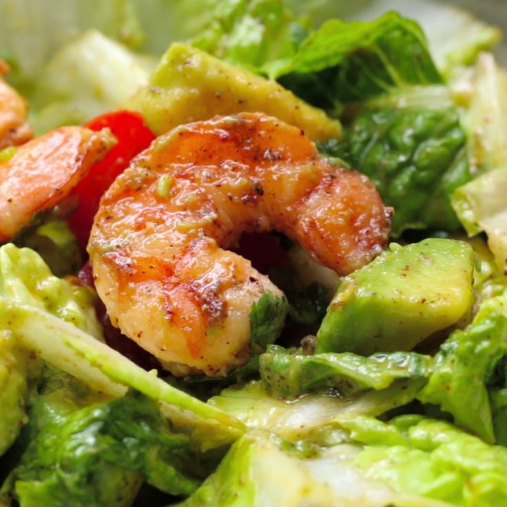 Shrimp and Avocado Taco Salad