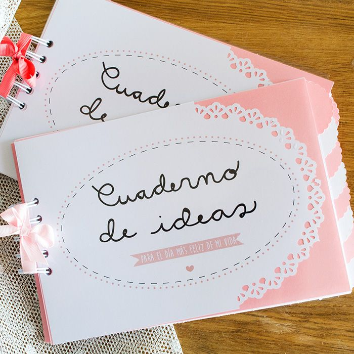 Cuaderno para novias disponible en www.happystories.es