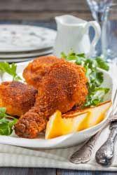 Pilons de poulet frits à la Maryland et potatoes recette pour le mercredi des enfants