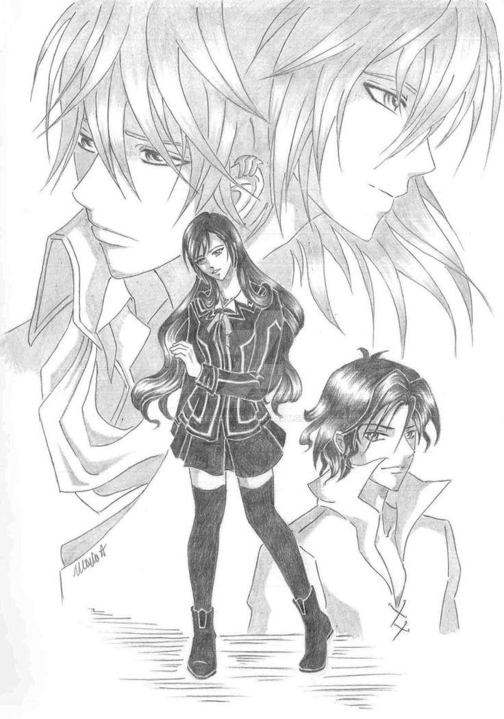 Fanart by Reika77.deviantart.com on @DeviantArt #vampire #vampireknight #fanfiction #zero #kiryu #ichiru #group #couple