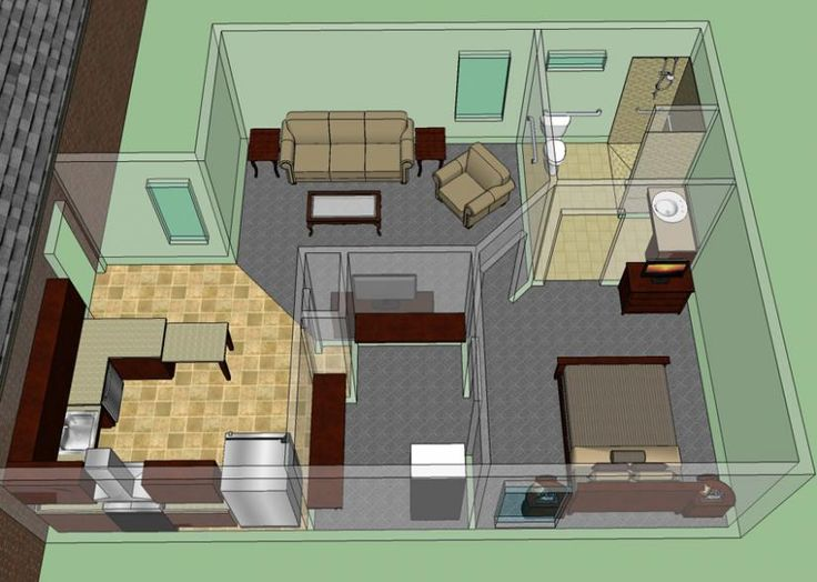 287 best small space floor plans images on pinterest for Small house plans with mother in law suite