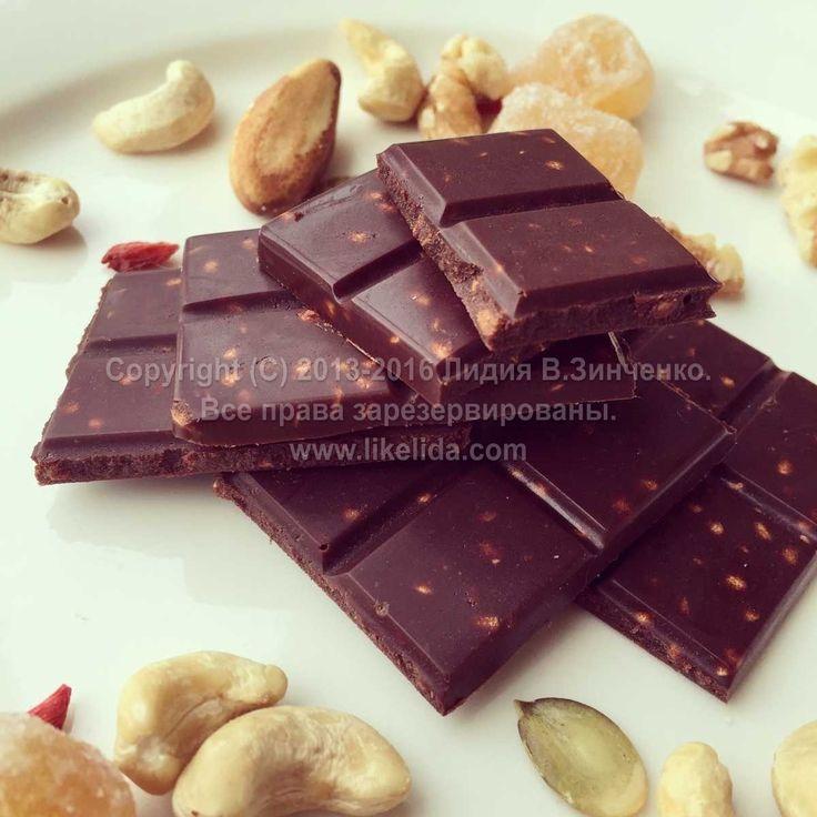 Хрустящий веганский шоколад с гречкой