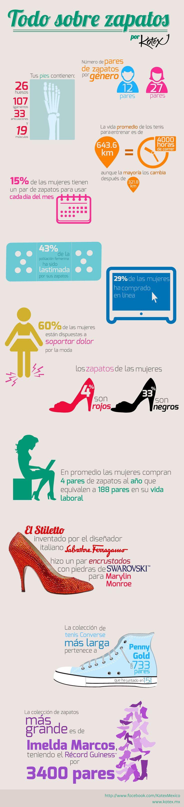 Todo lo que necesitas saber acerca de los zapatos en una sola infografía.     #infografia #cool #shoes #zapatos #moda #fashion